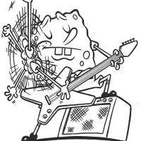 Bob Esponja tocando guitarra