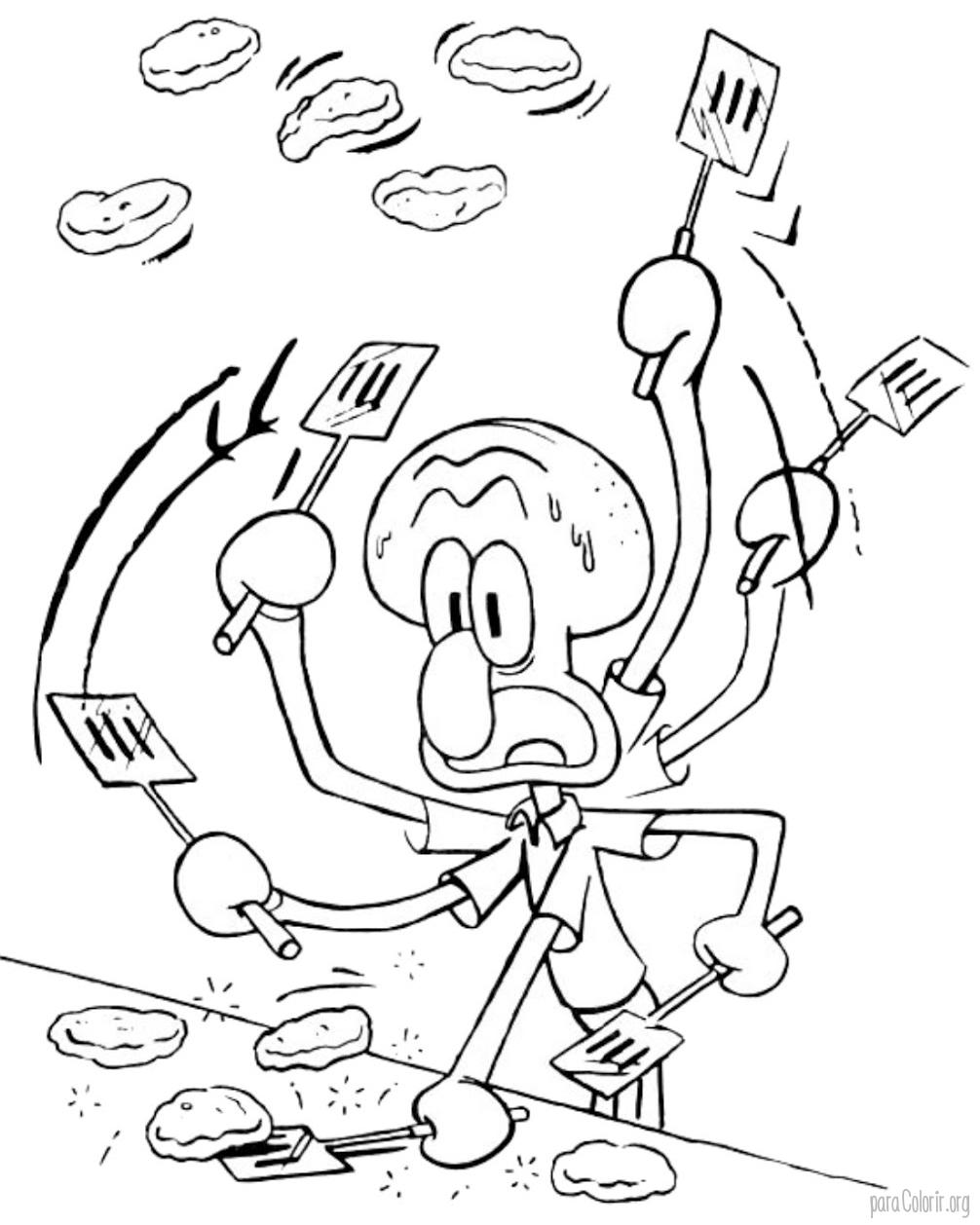 Lula Molusco fazendo hamburger