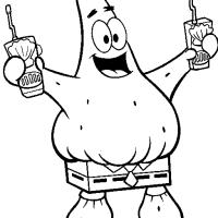 Patrick com calça do Bob Esponja
