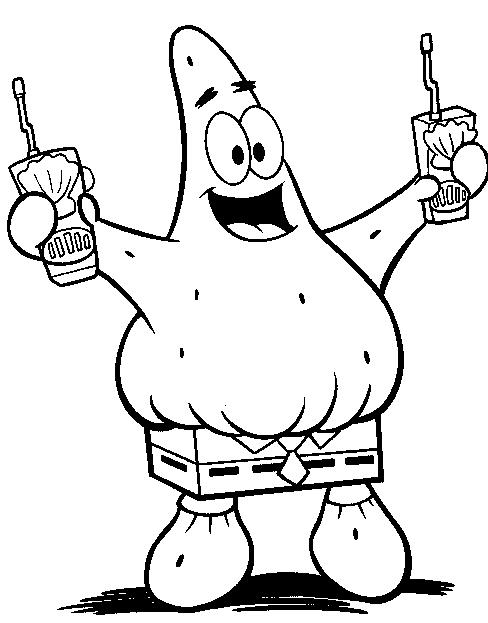 Patrick Com Calca Do Bob Esponja Colorir Org