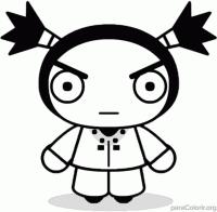 Garu, namorado da Pucca para colorir