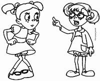 Pópis e Chiquinha para colorir