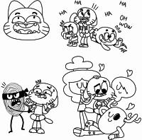 Cenas de Gumball para colorir
