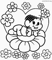 Desenho da Mônica para pintar