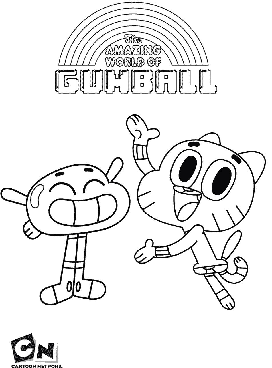 Desenhos do Gumball para pintar