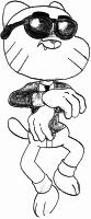 Gumball dançando Gangnam Style