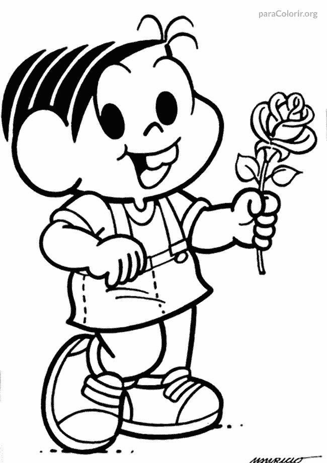 Mônica com flor