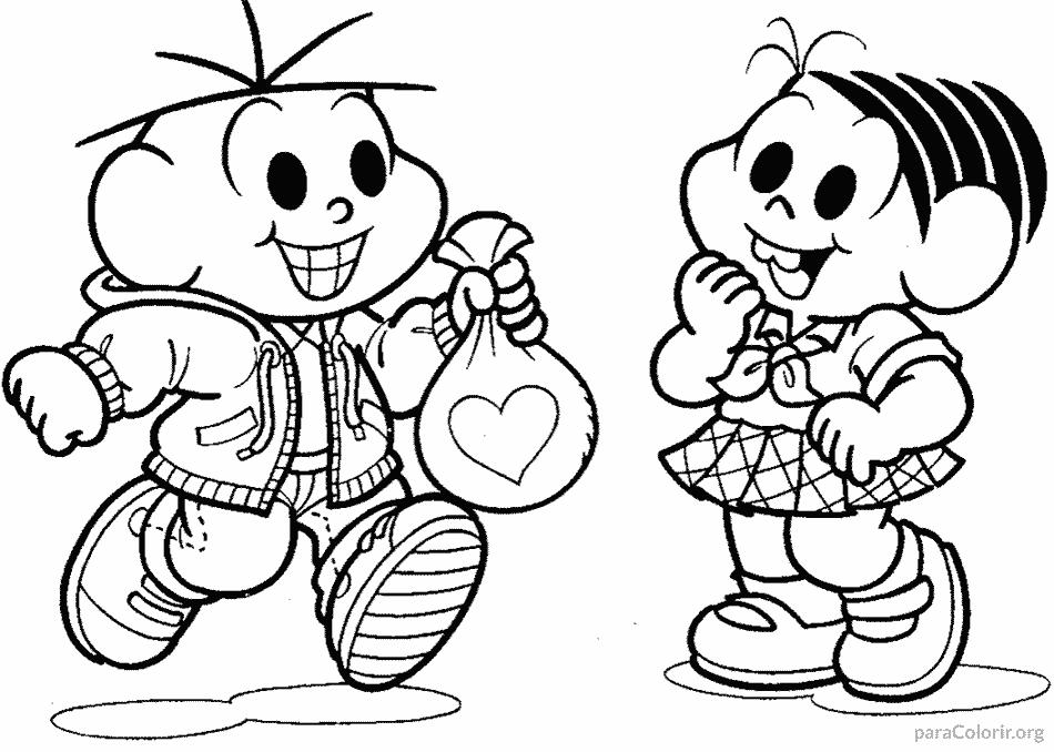 Mônica e Cebolinha com surpresa