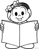 Mônica lendo revista
