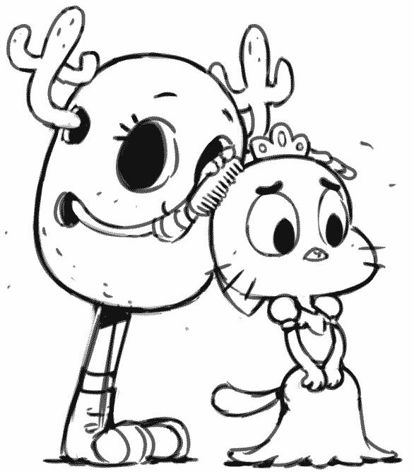 Personagens de Gumball para colorir