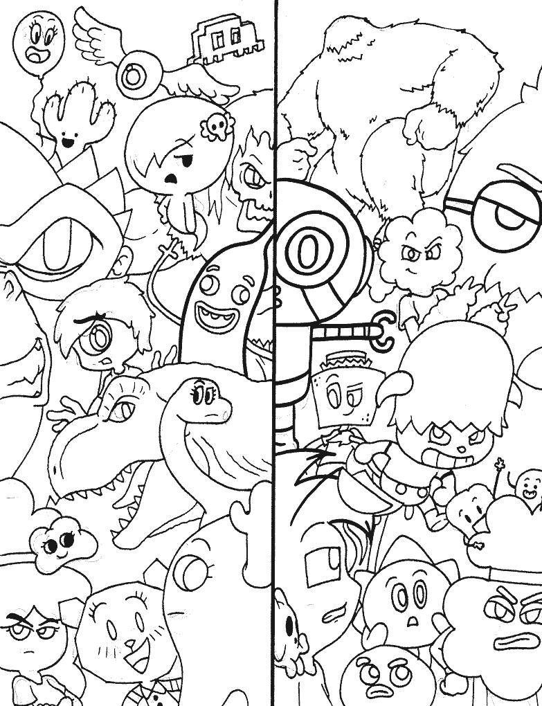 Personagens de Gumball para pintar