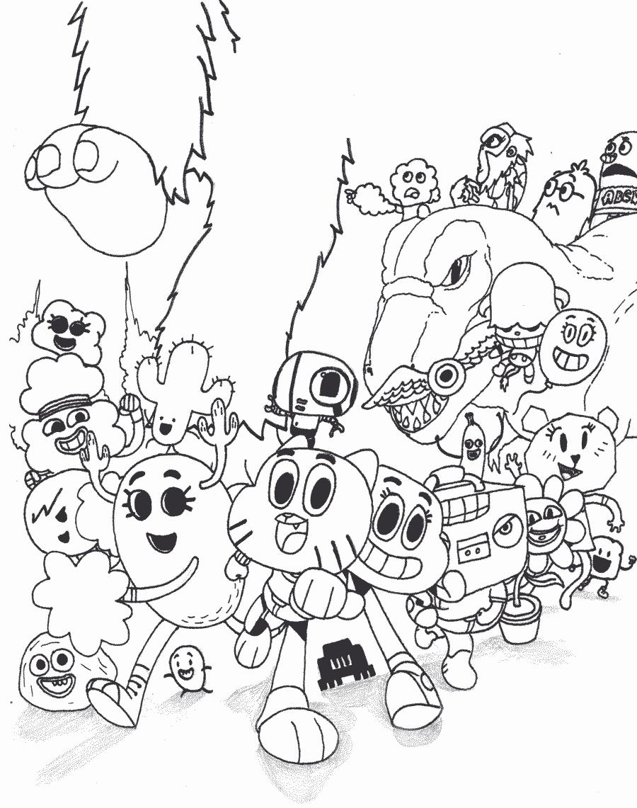 Toda a turma de Gumball