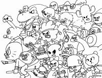 Turma de Gumball para colorir