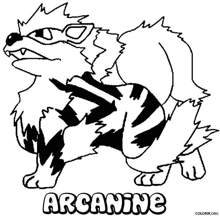 Pokémon: Arcanine para colorir