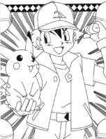 Ash e Pikachu juntos