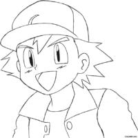 Pokémon: Ash para colorir