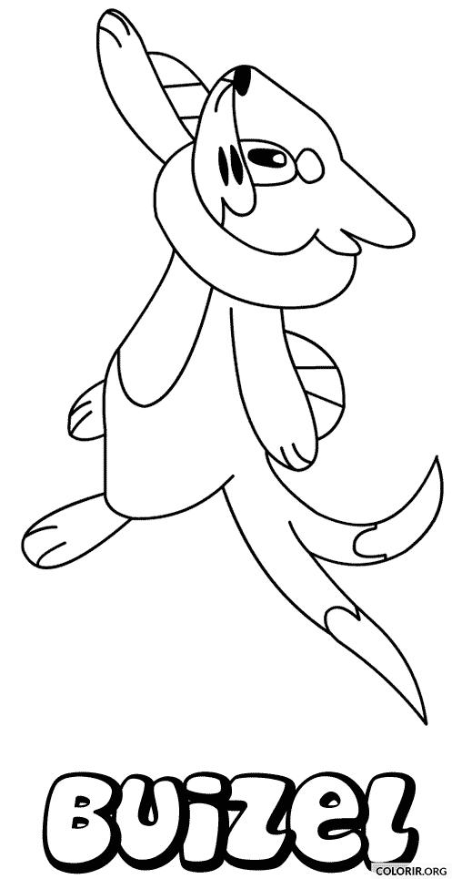 Pokémon: Buizel para colorir