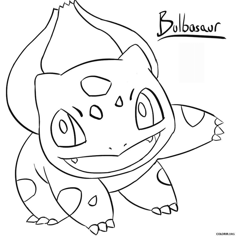 Pokémon: Bulbasaur para colorir