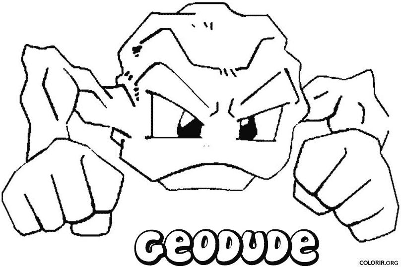 pokémon geodude para colorir colorir org