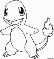 Pokémon: Charmander para colorir