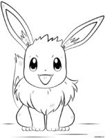 Pokémon: Eeve para colorir