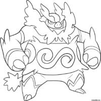 Pokémon: Emboar para colorir