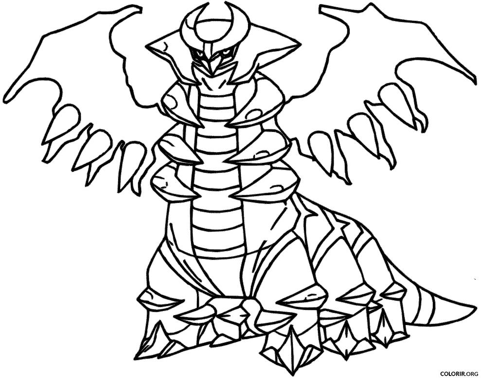 Pokémon: Giratina para colorir