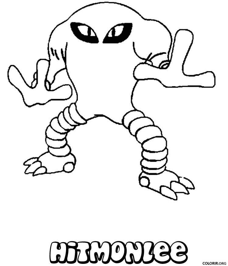 Pokémon: Hitmonlee para colorir