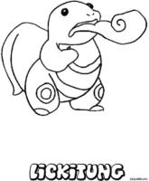 Pokémon: Lickitung para colorir