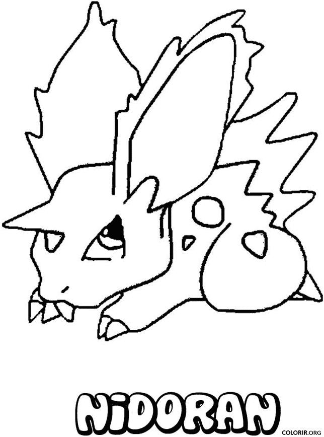 Pokémon: Nidoran para colorir