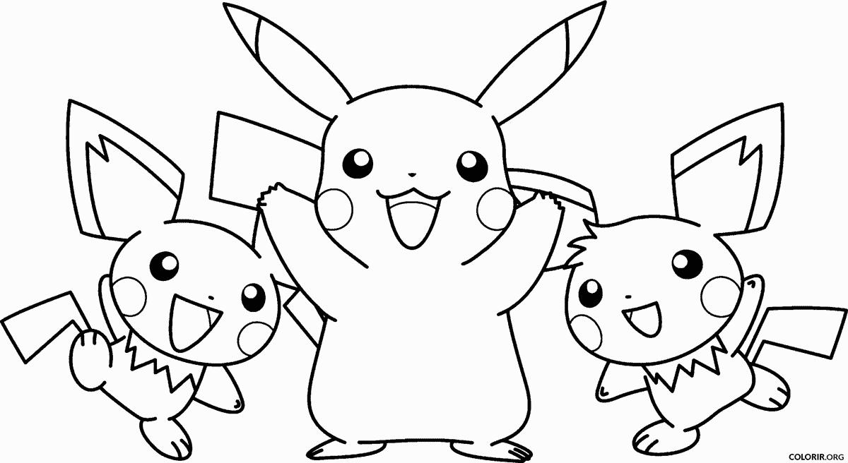 Pikachu e outros Pokémons para colorir
