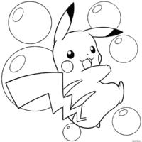 Pikachu entre bolhas