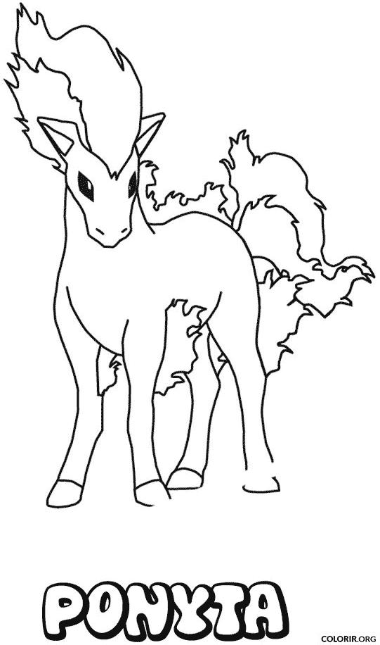 Pokémon: Ponyta para colorir