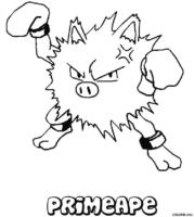 Pokémon: Primeape para colorir