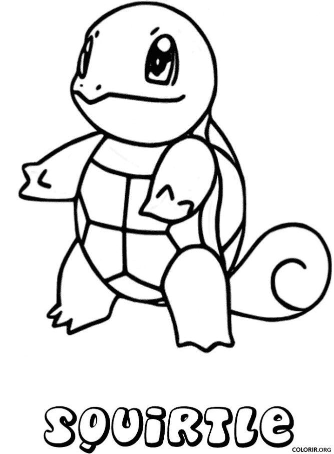 Pokémon: Squirtle para colorir