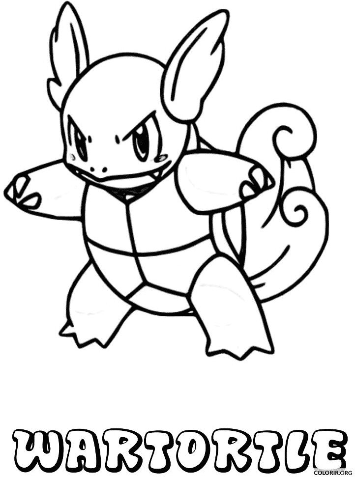 Pokémon: Wartortle para colorir