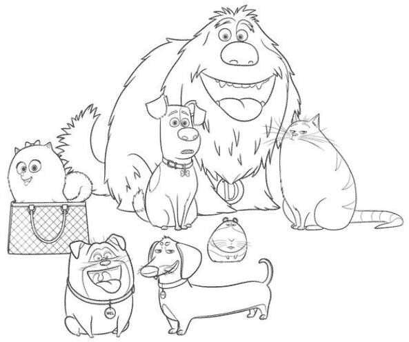 Personagens Dos Trolls >> A turma de Pets, o Filme, para colorir online — Colorir.org