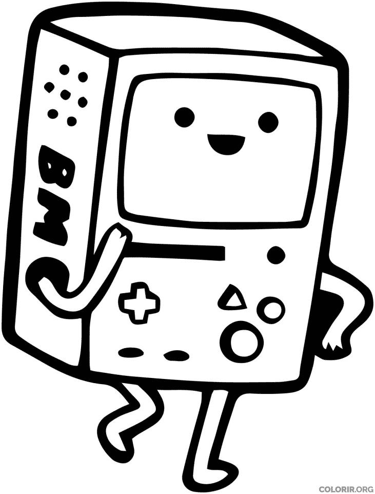 Desenho do BMO para colorir