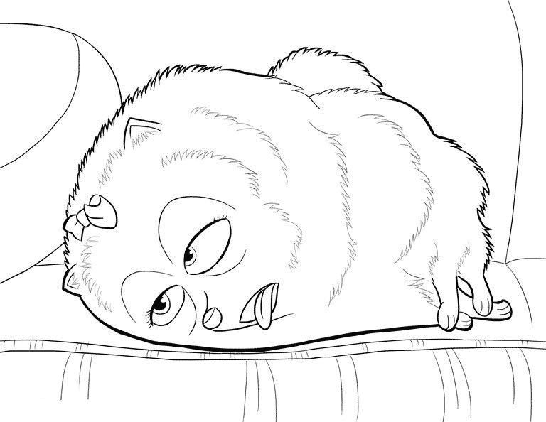 Gigi deitada no sofá