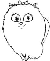 Gigi, de Pets, para colorir