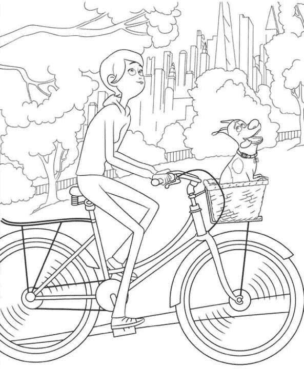 Max e Katie andando de bicicleta