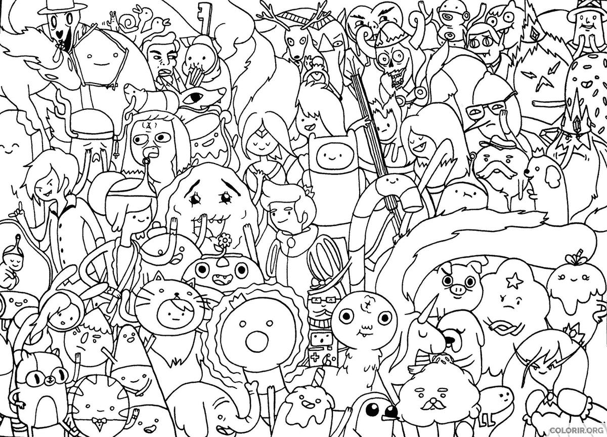 Personagens de Hora de Aventura para pintar