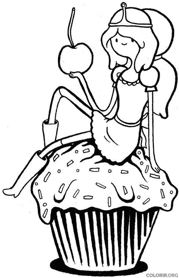 Princesa Jujuba com Cupcake