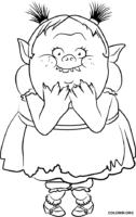 Bridget de Trolls para colorir