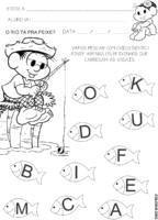 Atividade: Chico Bento com peixes para pintar