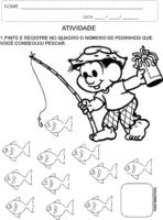 Atividade de colorir: Chico Bento na pescaria