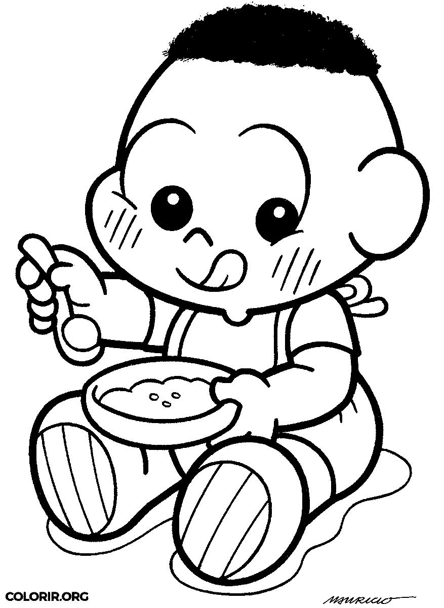 Desenho do Cascão baby para colorir