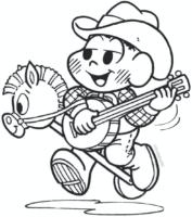 Cascão de Cowboy para colorir