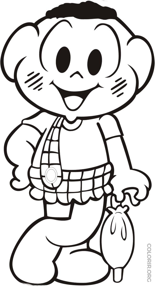 desenho de menina com guarda chuva para colorir