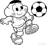 Cascão jogando futebol